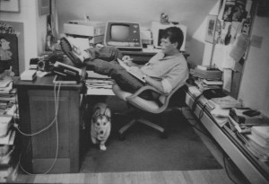 Stephen King à son bureau